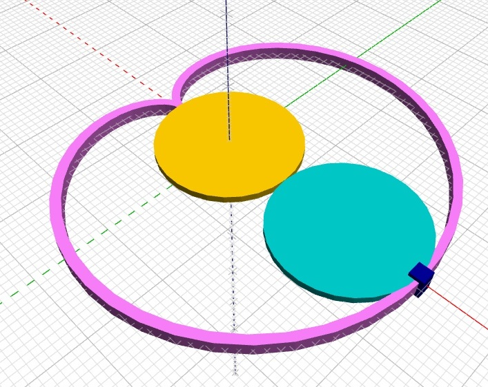 Cardioid drawn by rotating circles